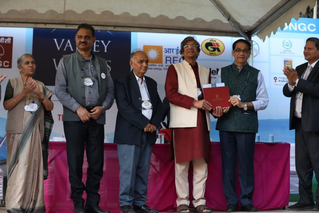 My Gyan Chaturvedi While Receiving The Prize